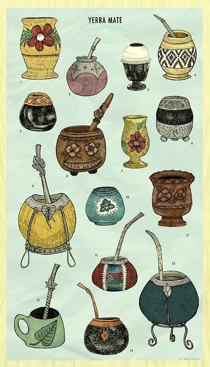 Artwork of Yerba mate cups | Girlfriend is Better