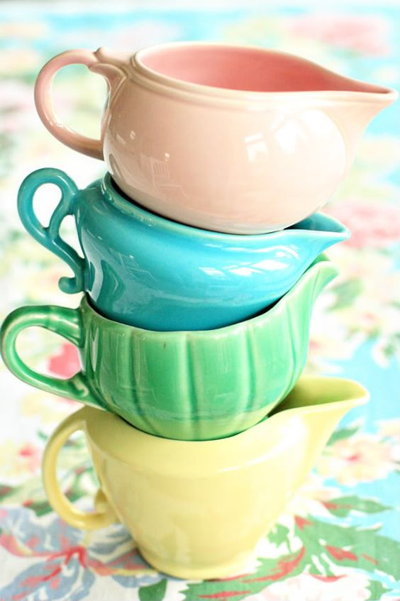 Vintage Bauer Pottery creamers | Girlfriend is Better