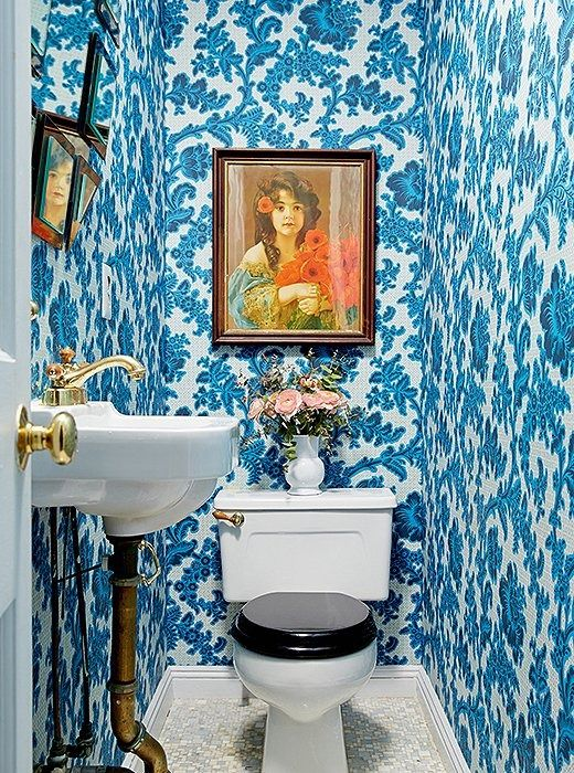 Vamp up a powder room with bold wallpaper | Girlfriend is Better