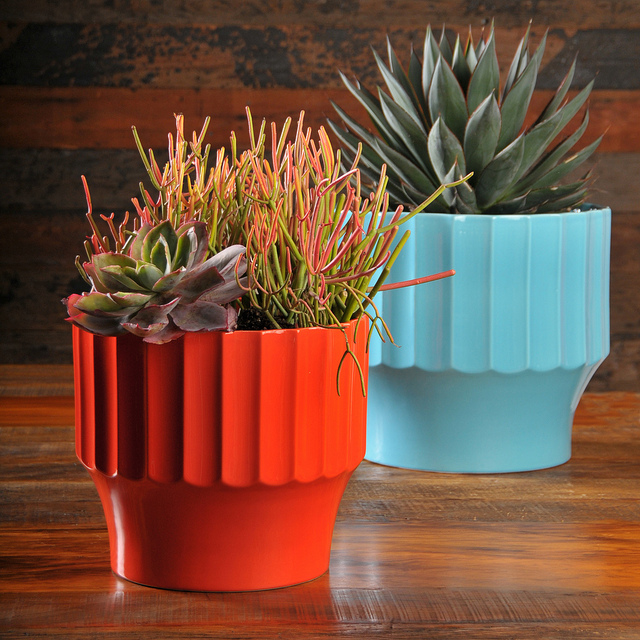 Bauer Pottery flower pots for succulents | Girlfriend is Better