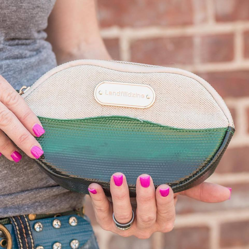 Lip Service upcycled makeup bag carried by Dear Danger mobile boutique   Girlfriend is Better