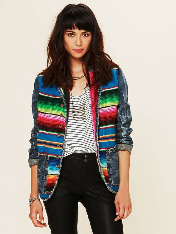 Free People Mexican Blanket Jacket | Embellished jackets |