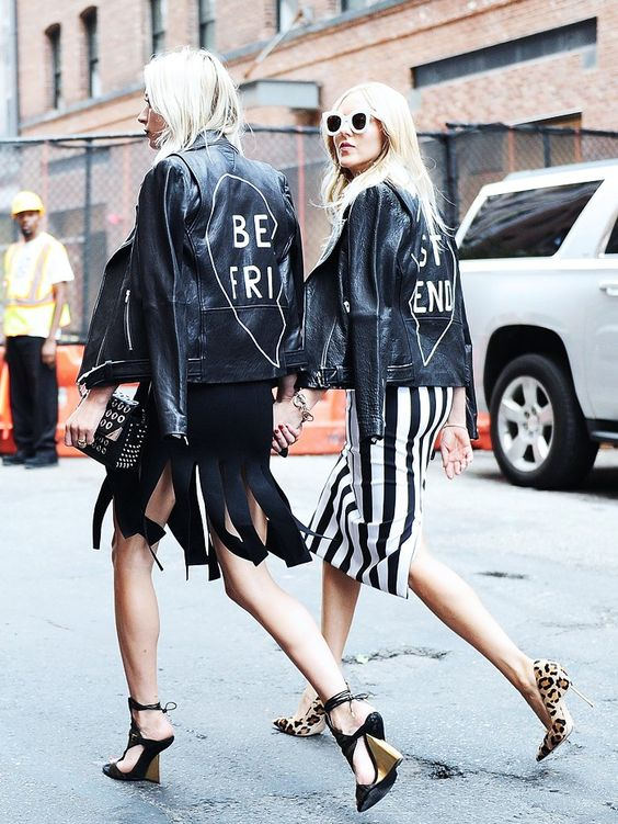 Hand-painted leather jackets BFF | Embellished jackets | Girlfriend is Better