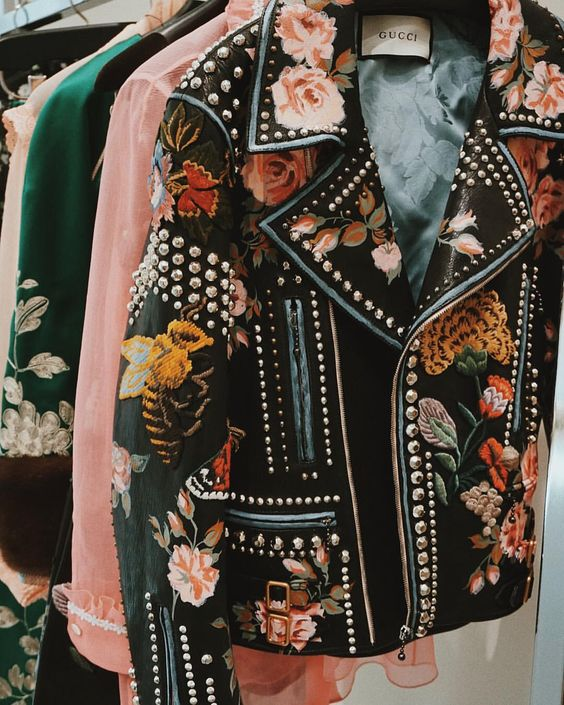 Gucci embroidered and studded delight | Embellished jackets | Girlfriend is Better