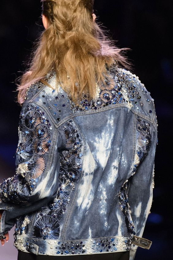 Jean Paul Gaultier studded denim | Embellished jackets | Girlfriend is Better