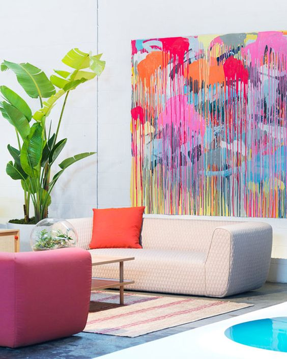 Art + pastels for creativity center | Abstract art | Feng Shui | Girlfriend is Better