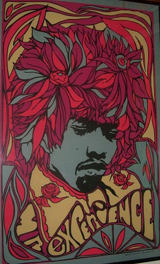 Jimi Hendrix vintage rock poster | Festival fashion | Girlfriend is Better