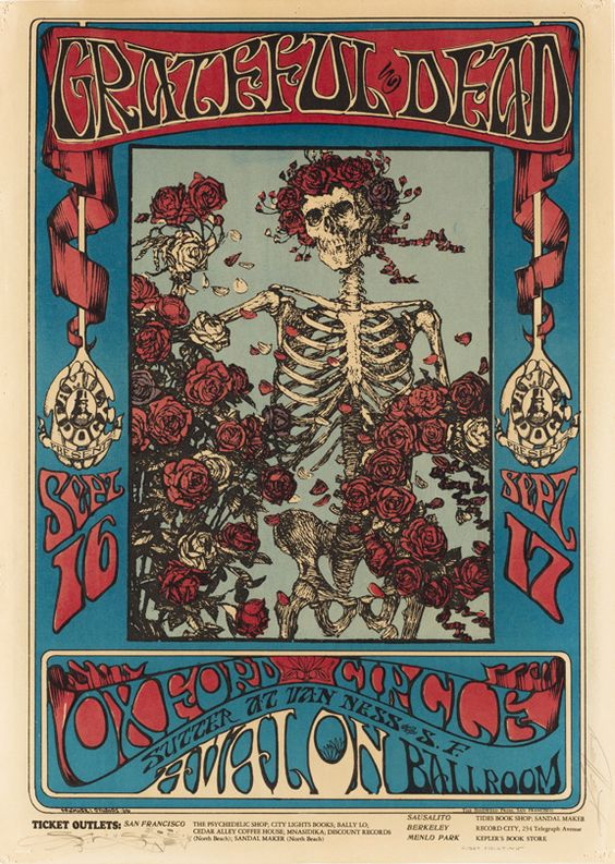 Grateful Dead vintage rock poster | Festival fashion | Girlfriend is Better