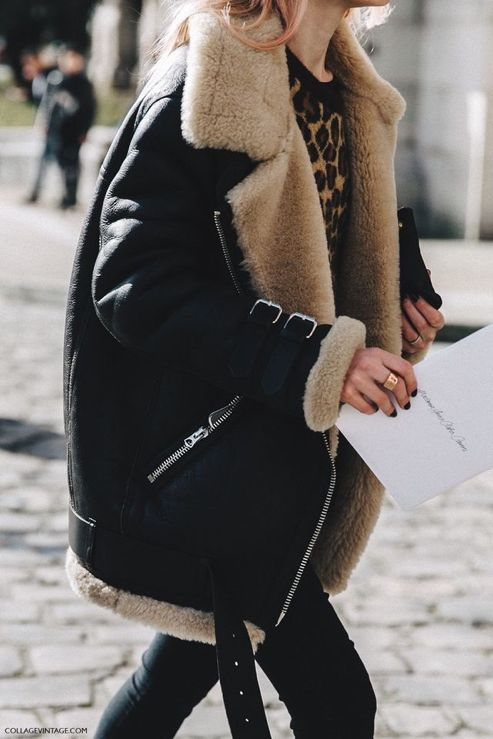 Sherpa and shearling fur-lined coats