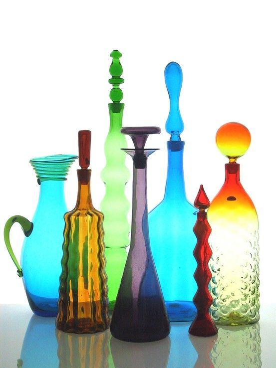Blenko Glass decanters | Mid-century modern | Girlfriend is Better