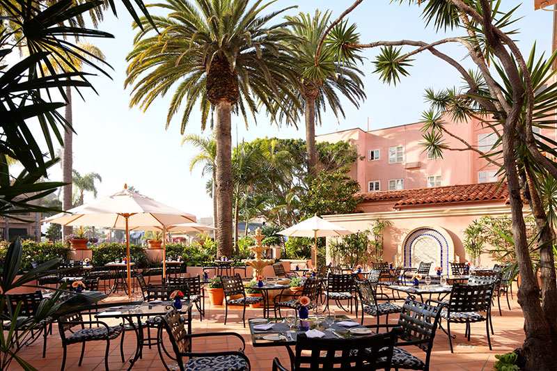 La Valencia Hotel garden terrace | La Jolla California travel guide | Girlfriend is Better