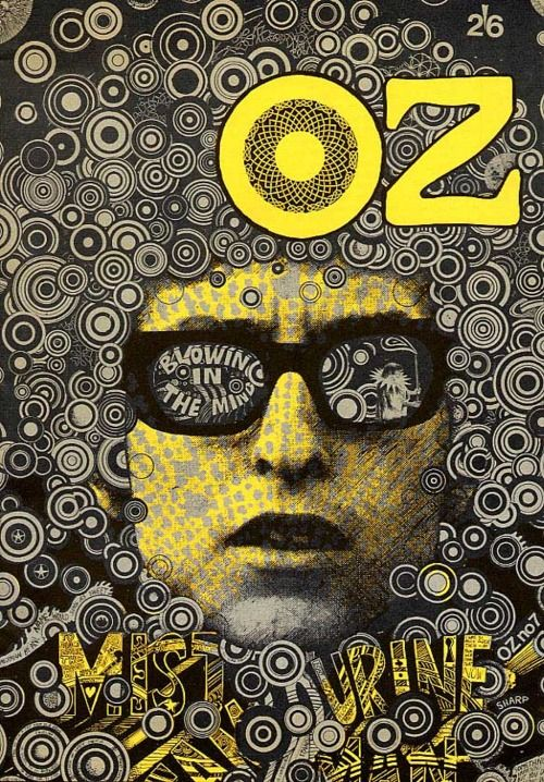 1967 OZ magazine cover art | Martin Sharp | Girlfriend is Better