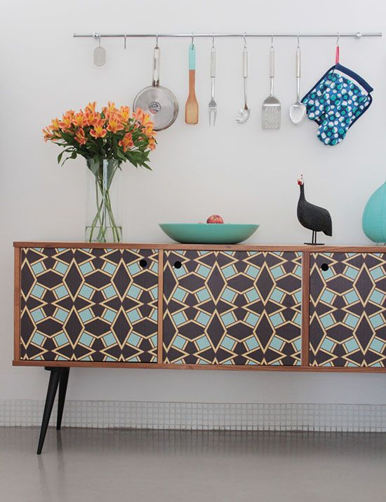 Use patterns on painted furniture for a fun, funky look | Girlfriend is Better