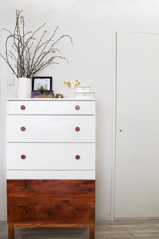 Painted furniture with only the top half done | Girlfriend is Better