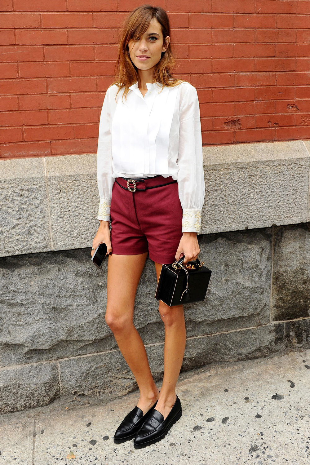Alexa Chung bringing back penny loafers | Girlfriend is Better