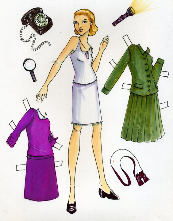 Nancy Drew paper doll | penny loafers | Girlfriend is Better