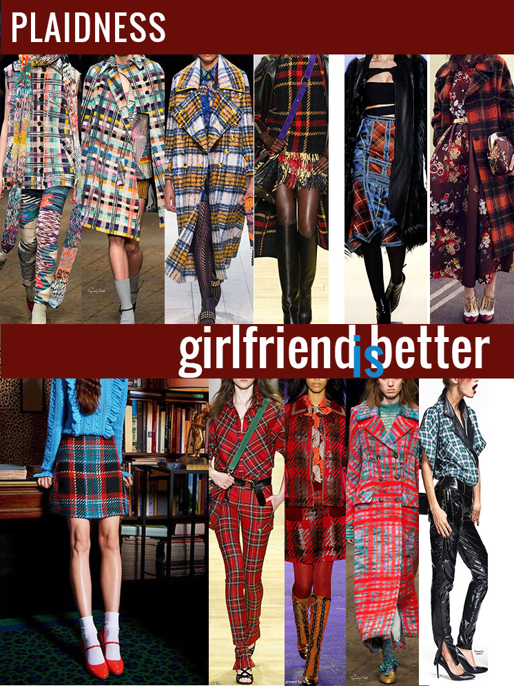 Plaidness | Favorite plaid runway looks | Girlfriend is Better