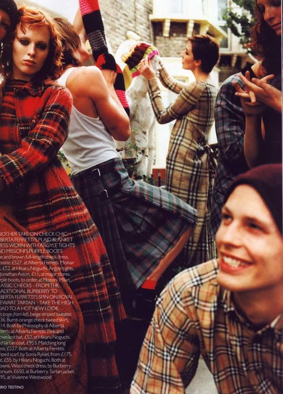 Mario Testino for Vogue UK, 1999 | Plaid fashion | Girlfriend is Better