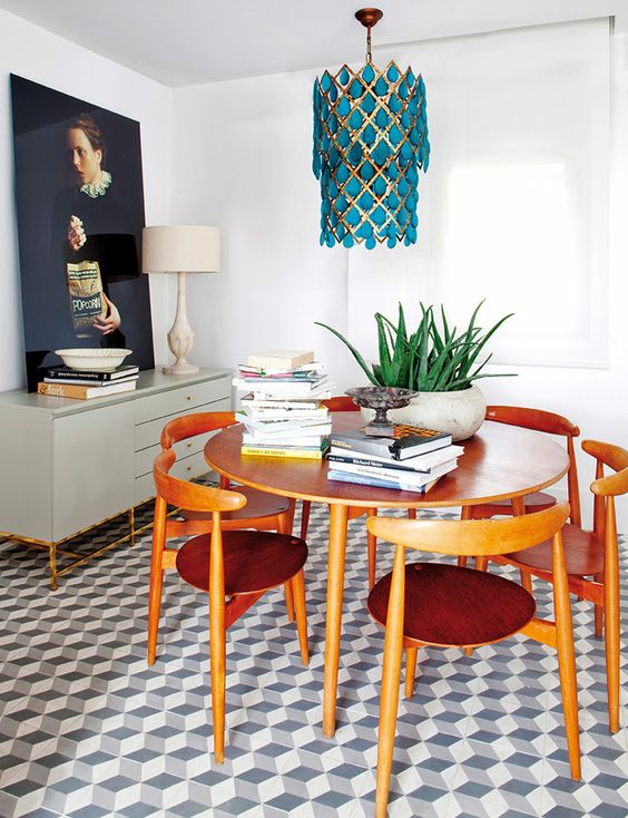 Attract prosperity and wealth with Feng Shui | Red + teak mid-century modern dining room | Girlfriend is Better