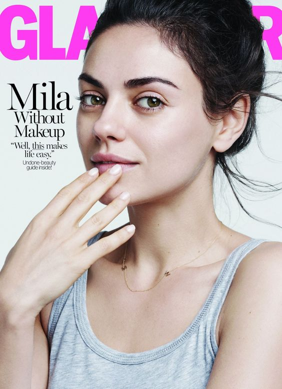 Mila Kunis make-up free Glamour cover | Retinol makes this look possible! | Girlfriend is Better
