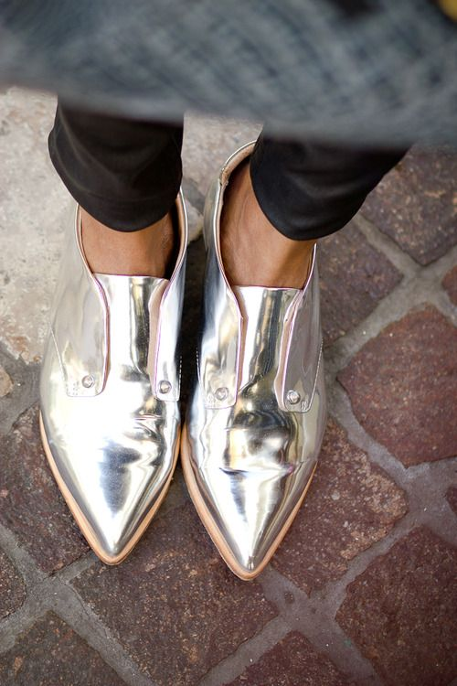Silver shoes + color psychology | Girlfriend is Better