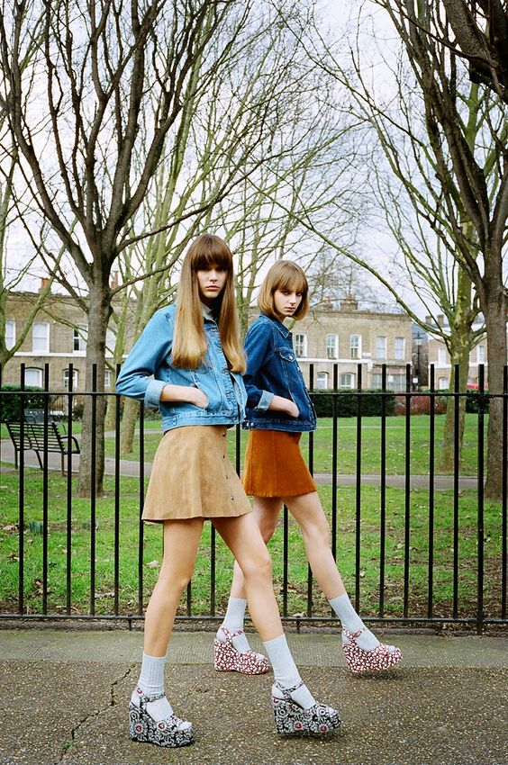 Topshop suede minis with jean jackets | Girlfriend is Better