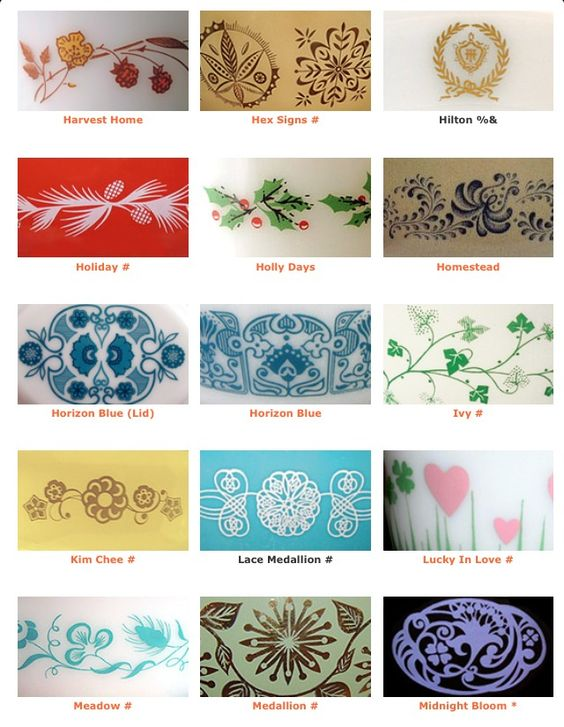 Vintage Pyrex patterns | Girlfriend is Better