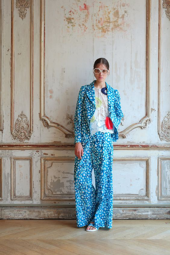 Wide-cut pants and matching jacket | Tsumori Chisato Spring 2016 Ready-to-Wear collection | Girlfriend is Better