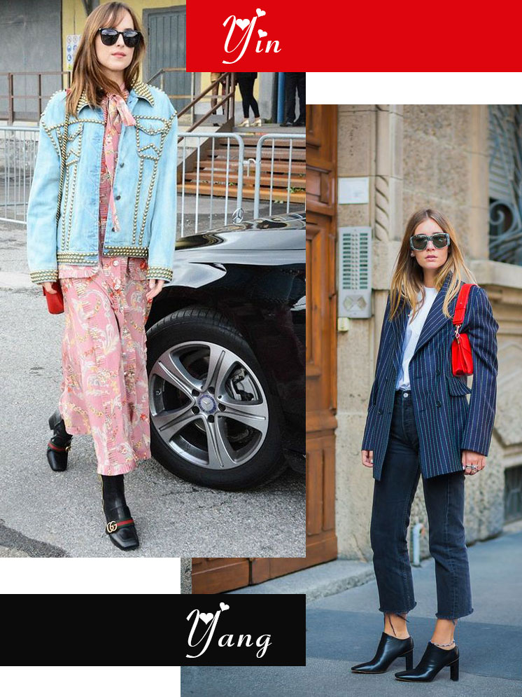 Galentine's Day fashion mash-up | Dakota Johnson (yin) + Chiara Capitani (yang) Girlboss style | Girlfriend is Better