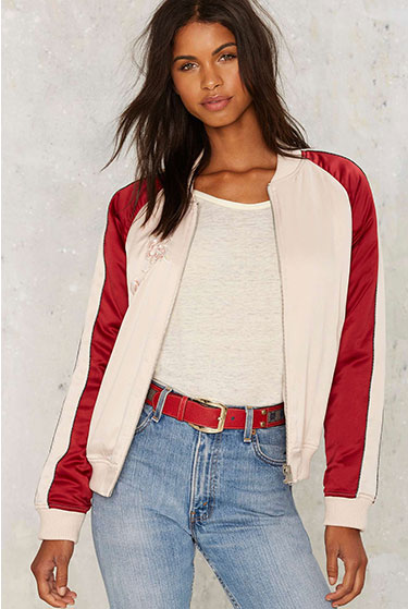 Serving Reverse Embroidered Jacket | Nasty Gal