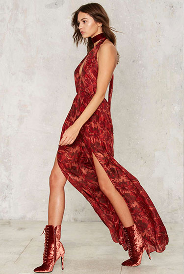 Silky Way Plunging Jumpsuit | Nasty Gal