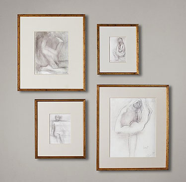 GILT GALLERY FRAMES - GOLD | Restoration Hardware