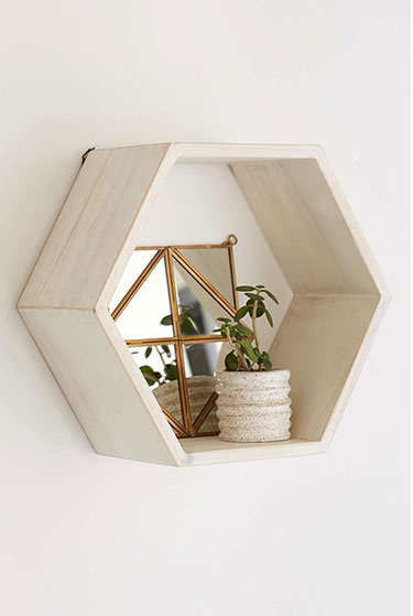 Honeycomb Wood Shelf | Girlfriend is Better