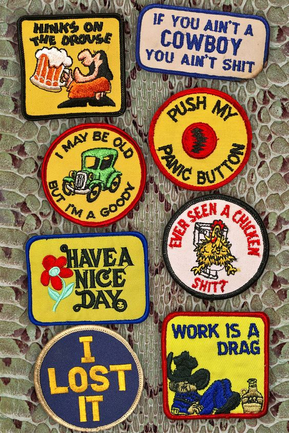 Sayings of the 70s vintage patches | Backbite | Girlfriend is Better