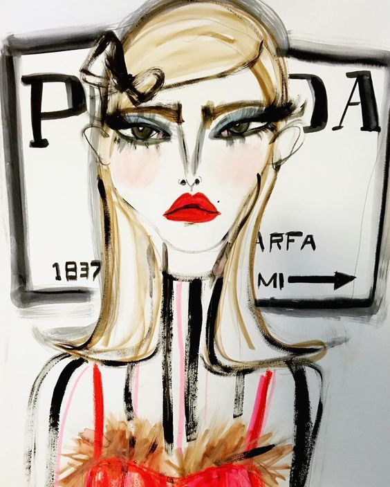 Prada fashion illustration by Blair Breitenstein | Girlfriend is Better