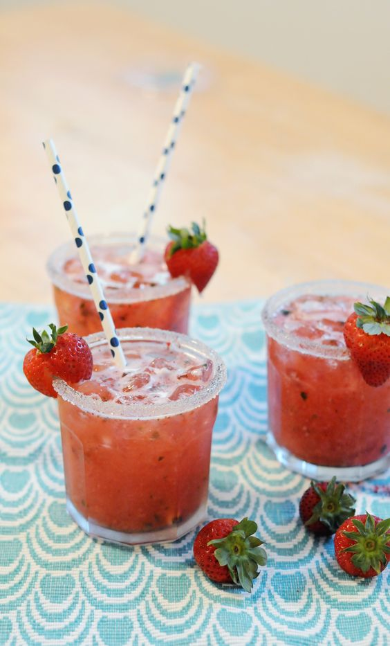 Strawberry Basil Ginger Cocktail recipe   Girlfriend is Better