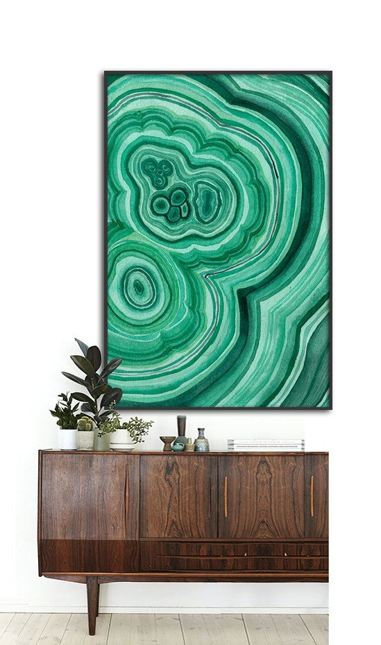 Agate watercolor artwork by Dantell via Etsy | Girlfriend is Better