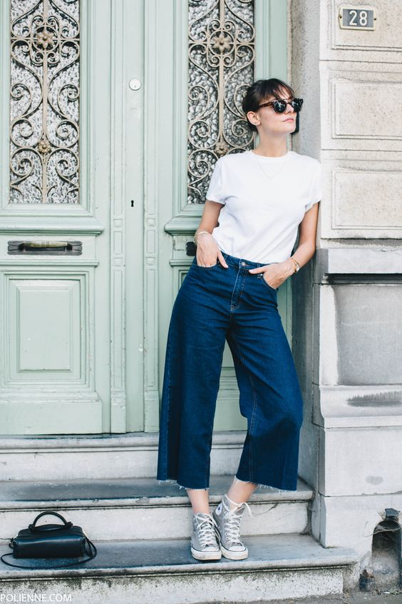 Denim culottes | Girlfriend is Better