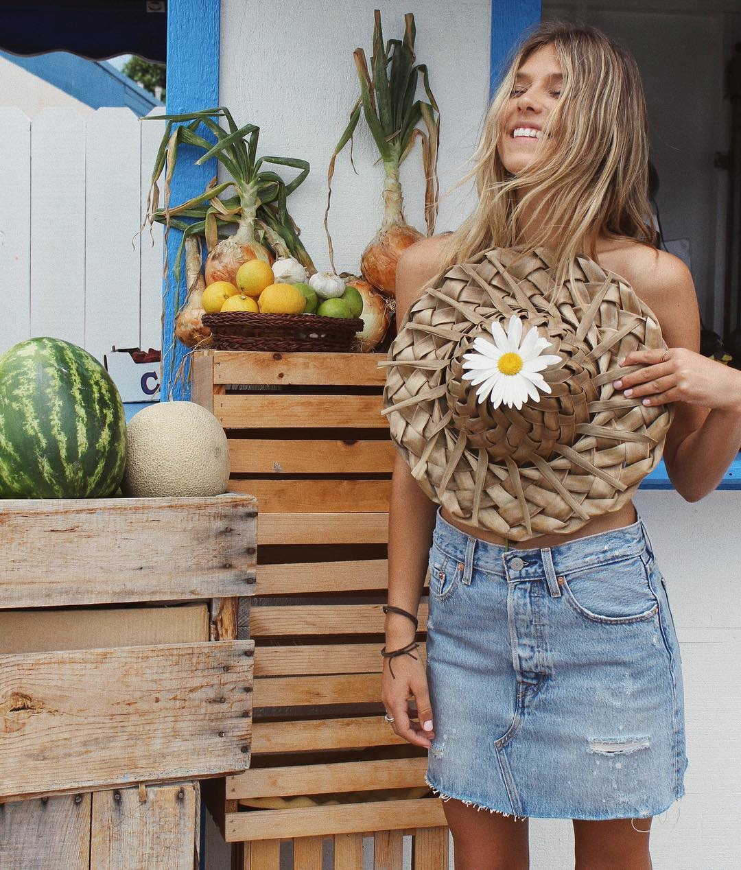 Coconut palm leaf straw hats | Surfer girl cool | Girlfriend is Better