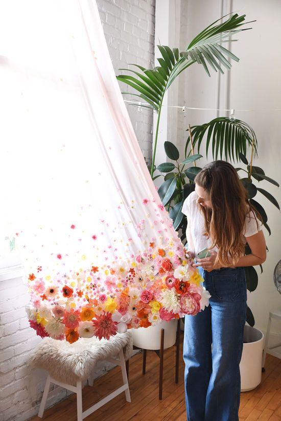 DIY floral curtains | Girlfriend is Better