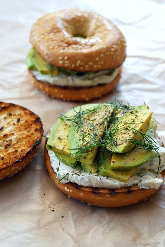 Toasted Bagel with Dill Cream Cheese + Avocado   Avocado toast recipes upgraded   Girlfriend is Better