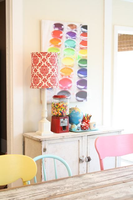 Rainbow dining chairs in light pastel color | Girlfriend is Better