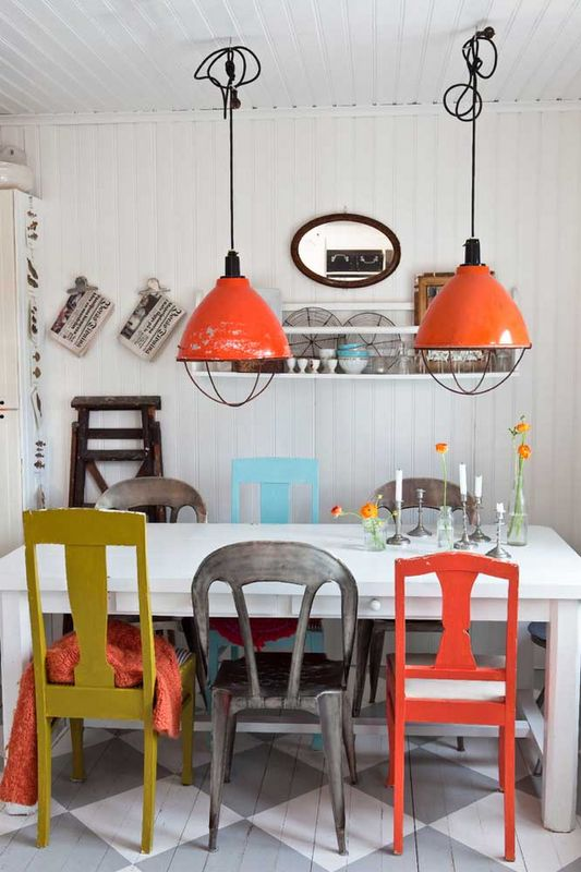 Industrial rainbow dining chairs | Girlfriend is Better