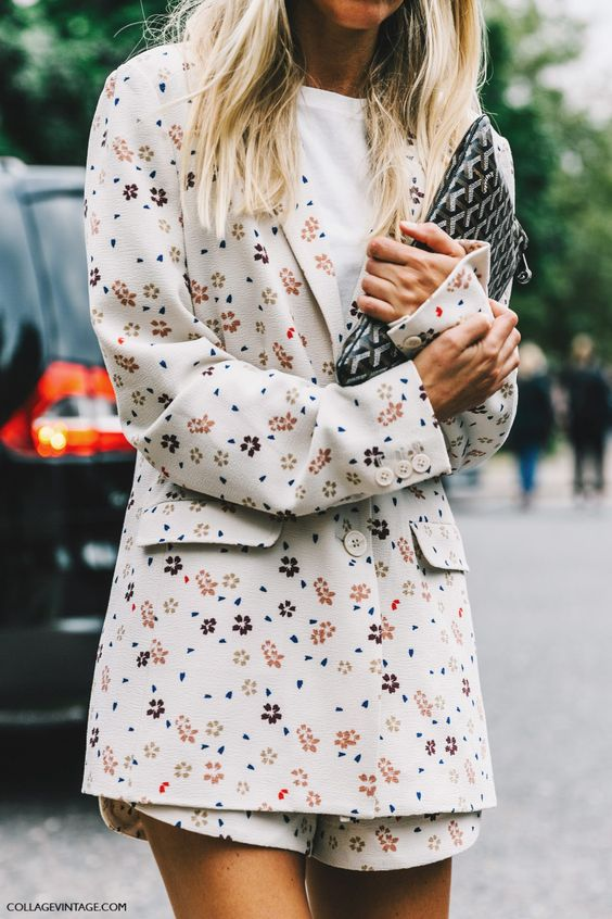 Floral shorts suit with long jacket | Girlfriend is Better