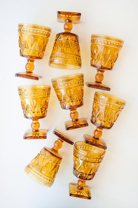 Vintage amber glassware | Girlfriend is Better