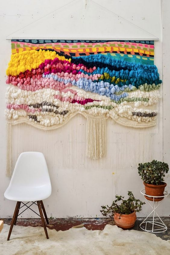 Ranbow macrame wall hangings 70s style | Girlfriend is Better
