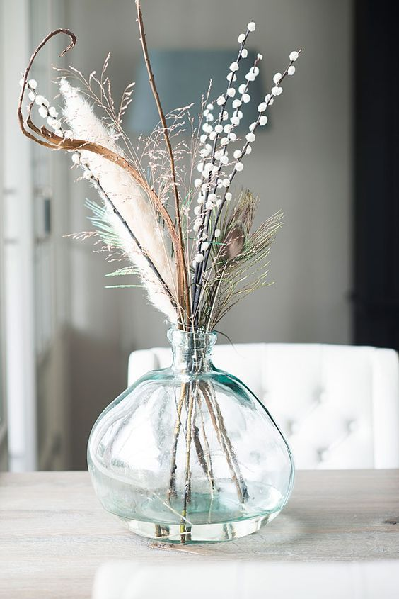 Hygge decor for the holidays | Baby's breath bouquet | Girlfriend is Better