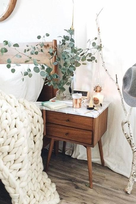 Hygge decor essentials | Branches and cozy blankets | Girlfriend is Better