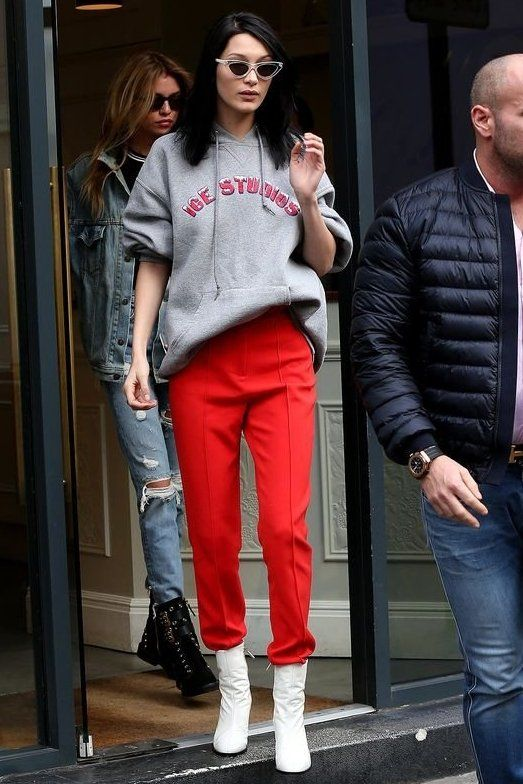 Red pants and white boots   Girlfriend is Better