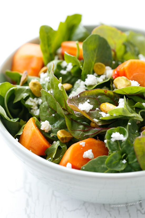 Persimmon Salad with Blood Orange Vinaigrette   Persimmons recipes and health benefits   Girlfriend is Better